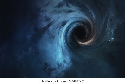 Black hole. Abstract space wallpaper. Universe filled with stars