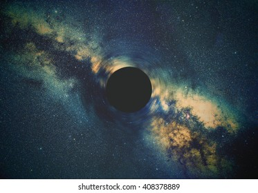 Black hole and Milky way stars in deep space / cosmos. Stars are taken through my telescope.
