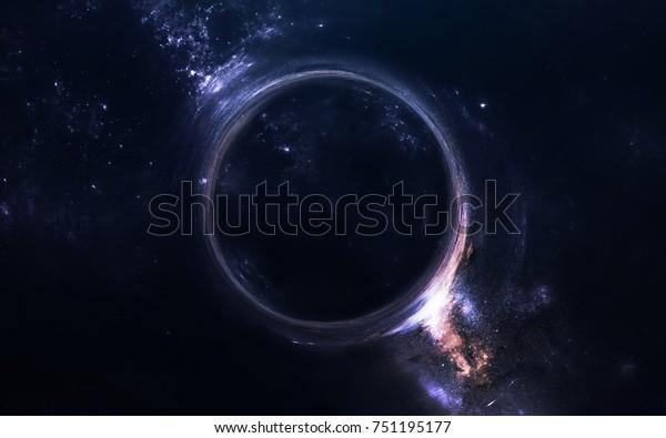 black hole science fiction wallpaper 600w 751195177