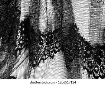 Black holloween fabric blurred texture for backgrop