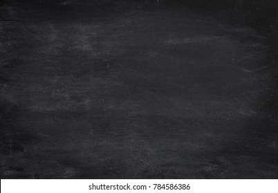 Black horizontal blank dusty or dirty chalkboard