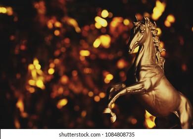 Black Horse Figure