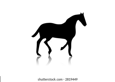 Black horse silhouette,shape,vector,isolated