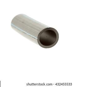 black hose on a white background close-up