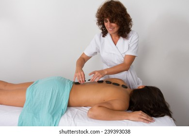black hot stones therapy