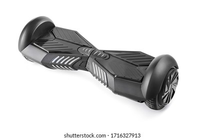 Black hoverboard isolated on white background