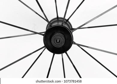 black hub bicycle