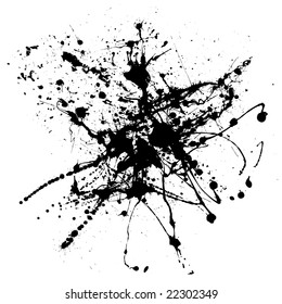 black ink abstract spray that would make an ideal background