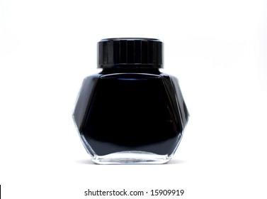 black ink bottle
