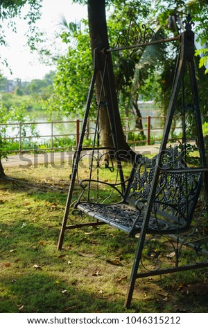 Black Iron Classic Outdoor Hanging Patio Stock Photo Edit Now