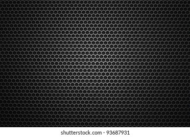 Black iron speaker grid texture. Industrial background.