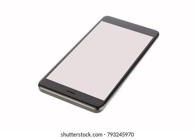 Black isolated smart phone