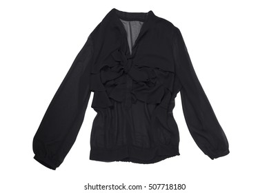 black jacket isolated on white with clipping path
