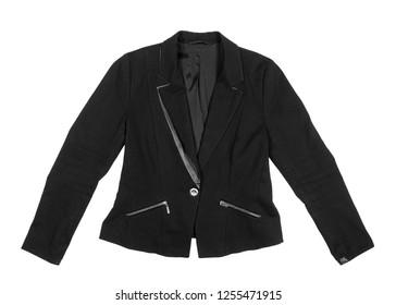 Black jacket on an isolated white background