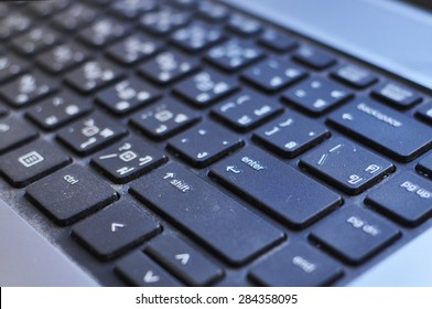 black Keyboard Enter button