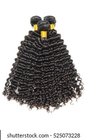 black kinky curly hairpiece human hair extensions