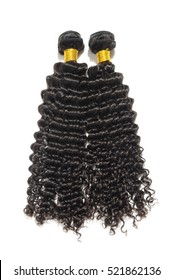 Black kinky curly human hair extensions bundles