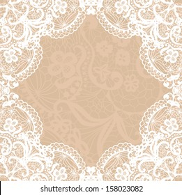 black lace on texture, template.