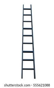 black ladder on white background