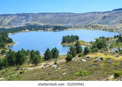 Black Lagoon of Natural Park of Neila Lagoons, Demanda mountain range Burgos (Spain)