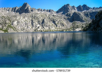 "Black lake. ""Chariots of fire"" trail. Pyrenees mountain, Spain"