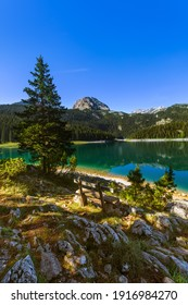 Black Lake (Crno Jezero) in Durmitor - Montenegro - nature travel background - Shutterstock ID 1916984270