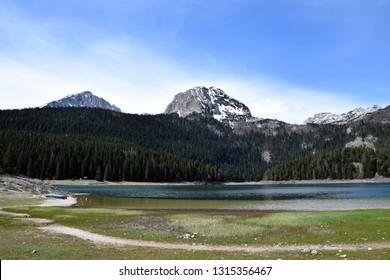 Black Lake (Crno jezero) and Meded peak - Durmitor National Park. Zabljak, Montenegro.