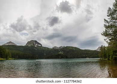 Black lake in Durmitor national park in Montenegro, Europe. Beauty world.