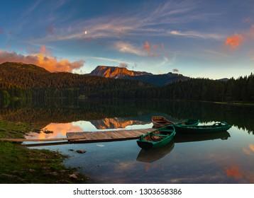 Black lake in Durmitor National Park , Zabljak, Montenegro, Europe