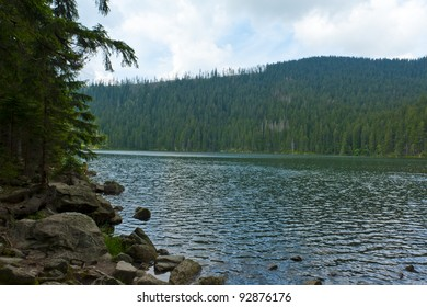 Black Lake, the Largest natural lake in the Czech Republic is located in the Sumava mountains