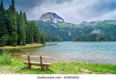 Black lake in Montenegro  view