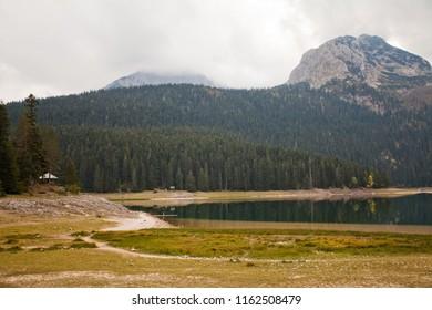 Black lake on Durmitor national park Montenegro