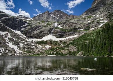 Black Lake, Rocky Mountain National Park, Colorado, USA.
