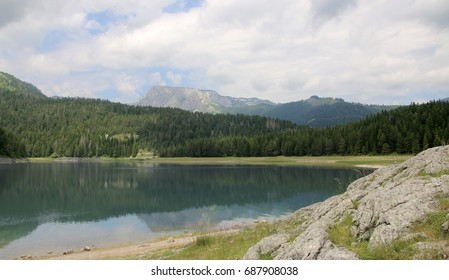 Black Lake. A small glacial lake that is located on the Mount Durmitor within the Durmitor National Park in the northern part of the Republic of Montenegro.