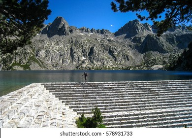 "Black lake.""Chariots of fire"" trail. Pyrenees mountain, Spain"