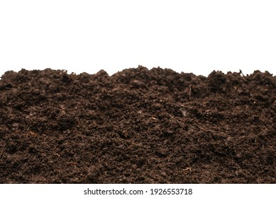 Black land for plant isolated on white background.