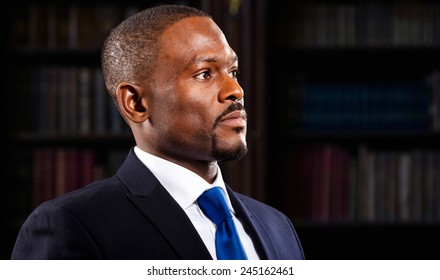 Black lawyer portrait