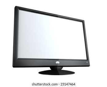 black lcd screen isolated