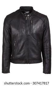 black leater jacket