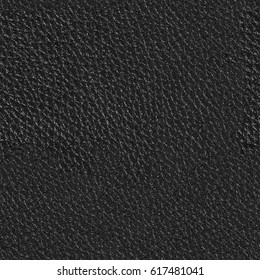 Black leather for background from car seats. Seamless square texture, tile ready. High resolution photo.