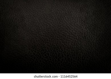 black leather background or texture
