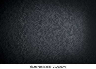 black leather background or texture with dark vignette borders