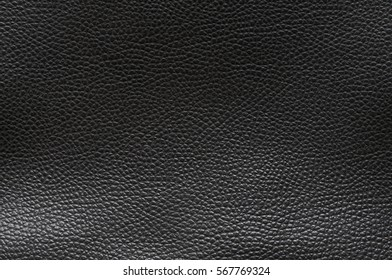 Black leather background with  textured effect./Black leather