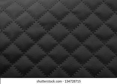 Black leather background,Brown leather  texture.