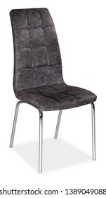 Black leather chair isolated on white background