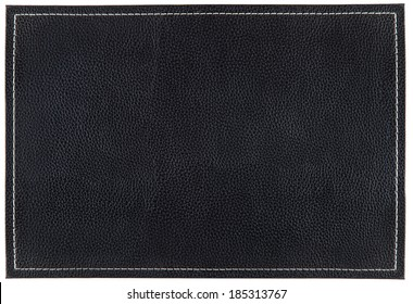 Black Leather mat with stitching