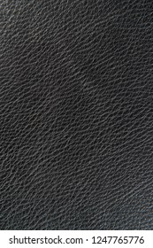 Black leather structure close up