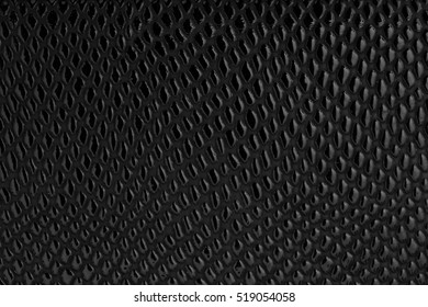 Black leather surface. Plastic (leather) texture pattern. EPS 10 vector illustration without transparency.