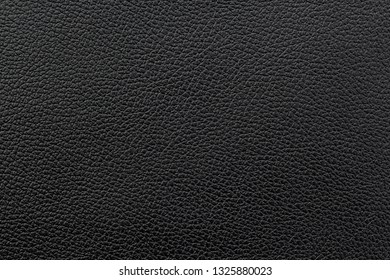 Black leather texture or leather background.