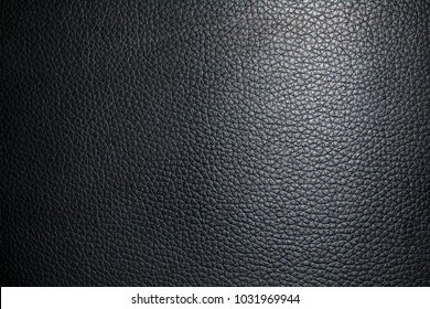 black leather texture background close up. Top view